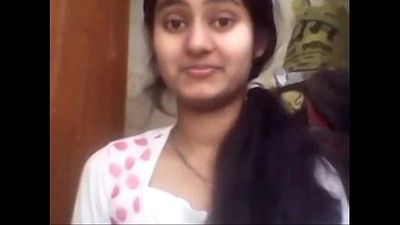 Cute North Indian Girl Showing Her Boobs On Cam to BF - 2 min
