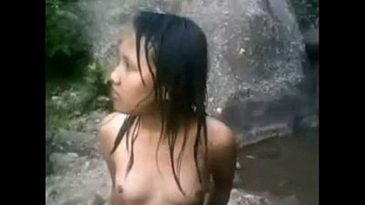 Desi Tribal girls from Assam bath nude in public at pic-nic - 8freecams.com - 2 min