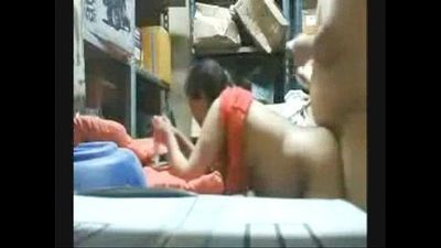 bravewebgirls.com/cams - Arab Coworkers Fucking in the Store Room at Work - 2 min