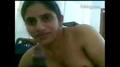 Indian sex, horny South Indian lady takes cum on mouth, Indian blowjob - 1 min 6 sec