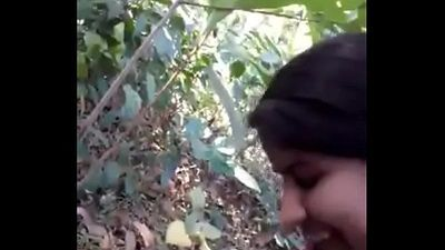 Desi girl very nice sucking n fucking in forest - HornySlutCams.com - 4 min