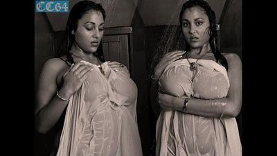 busty Urmila aunty displays her big boobs in shower - 8 min