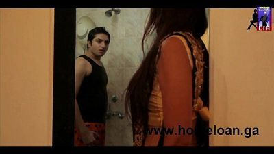 Lonely Indian Housewife checking her curves in front of the mirror - 9 min