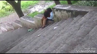 Indian couple romance in park - 20 sec