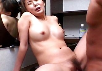 Precious Asian babe rides cock like mad - 5 min