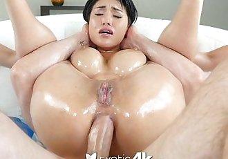 Exotic4K - Busty asian Jayden Lee lubed ass fucked hard - 10 min HD