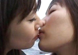 Japanese Lesbian Kiss 5 - 8 min