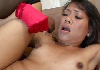 asian girl and big black dick into hot interracial porn action - 24 min