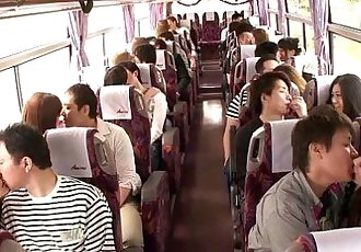 Japanese teen groupsex action babes on a bus - 8 min HD