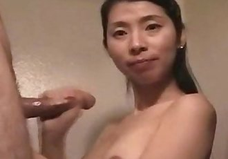 Cute amateur asian milf gets messy facial - 34 min