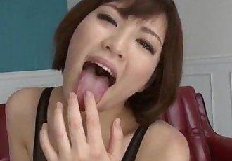 Hardcore session with two males for Tomoka Sakurai - 12 min