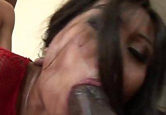 Sexy Asian Max Mikita interracial gang bang! - 9 min