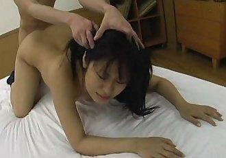 Asian big ass slut getting fucked in a sweet threesome - 8 min