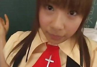 Innocent schoolgirl from Japan tastes her teachers rod - 7 min