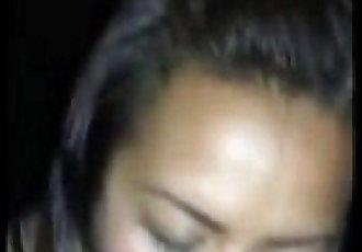 Asian girl sucks big black cock - 2 min