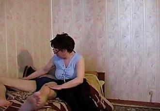 Rusian milf fuck young boy