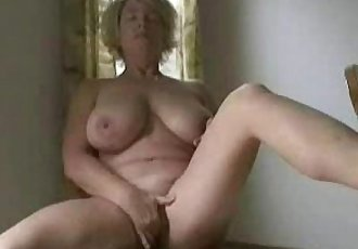 Cute busty granny fingering. Amateur older - 1 min 5 sec
