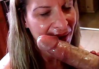 Sexy mature amateur sucks cock - 5 min