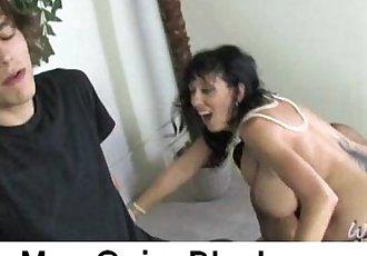 Huge Tits Brunette On Black Dong 6