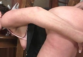 Horny mother in law seduces him - 6 min