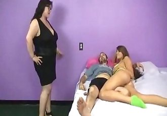 Big-Sized Milf Jerking Her Daughter's Boyrfiend  - 1 min 20 sec