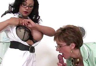Nasty mature busty nurses