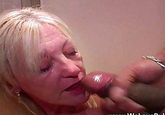 Older mature wife does bukkake - 7 min HD