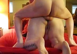 Chubby mature wife gets anal and creampied - 2 min