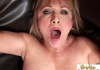 Good looking blonde granny fucked roughly by a young stud