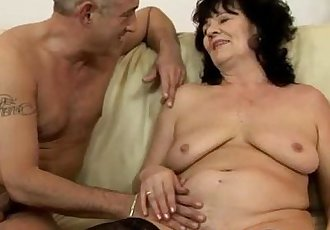 Amateur GILF in stockings takes facial - 6 min