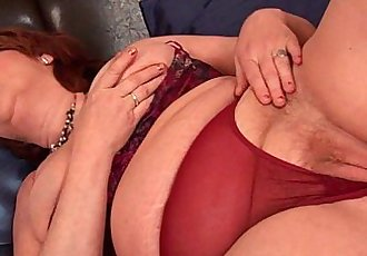 Full figured grandma with big tits needs orgasm - 5 min HD