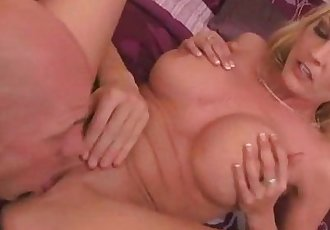 Mature busty babe gets oral and fingering