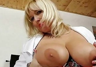 Filthy blonde big tits milf in nurse uniform - 5 min