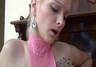 SKINNY BLOND NEEDS FISTING IN HER HUGE TWAT - 6 min