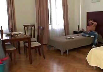 Cleaning lady takes his horny cock from behind - 6 min