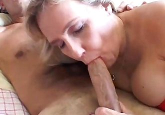 Busty mature amateur gives a great blowjob - 5 min