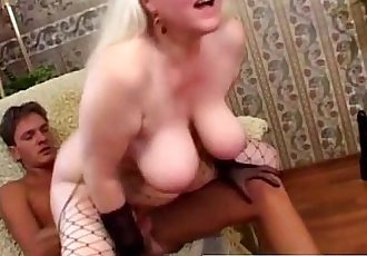 Blonde granny dick and toy fucked - 5 min