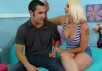 Big tit blonde stepmom fucks stepson - 8 min