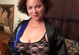 American milf Marie Black loves dildoing her nyloned pussyHD