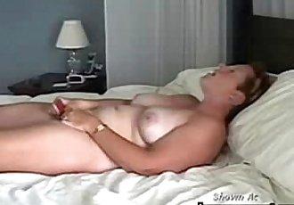 Good quality hidden cam of my mom masturbating on bed - 35 sec