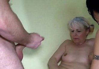 Old granny and Nice woman using straponHD
