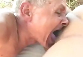Lucky old man fucking hot aunty outdoors - 10 min
