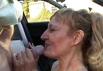 Public Deepthroat Milf Bonie Does 2 Guys in Car Park Amateur Reality - 6 min