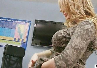 Hot Big Tit Blonde MILF Fucked In Class  Stacey Saran - 7 min HD