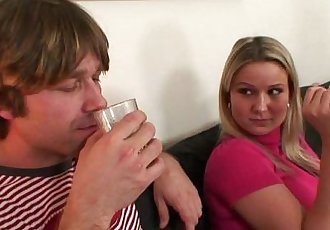 Wife watches as he fucks her old mom - 6 min
