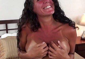 Big tit tanline milf sucks - 5 min