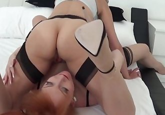 Lady Sonia in hot Lesbian sex with Milf Red XXX