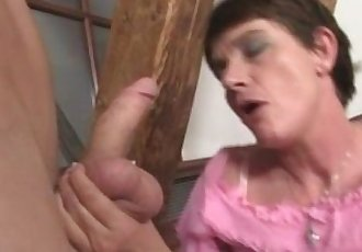 Horny mother in law needs cock