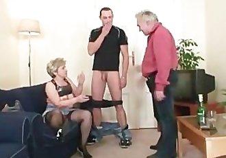 Hot threesome after pussy masturbating