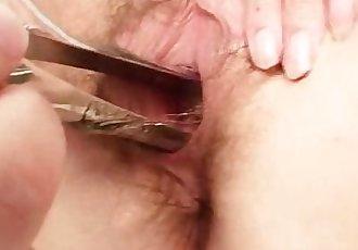 Unshaved twat mother Tamara embarrassing doctor examination